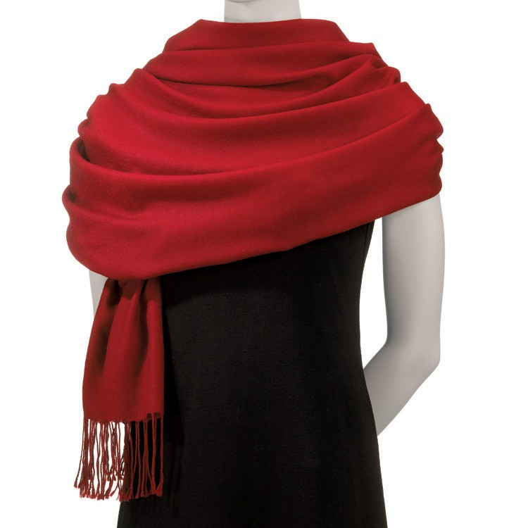 Red Acrylic Pashmina Scarf
