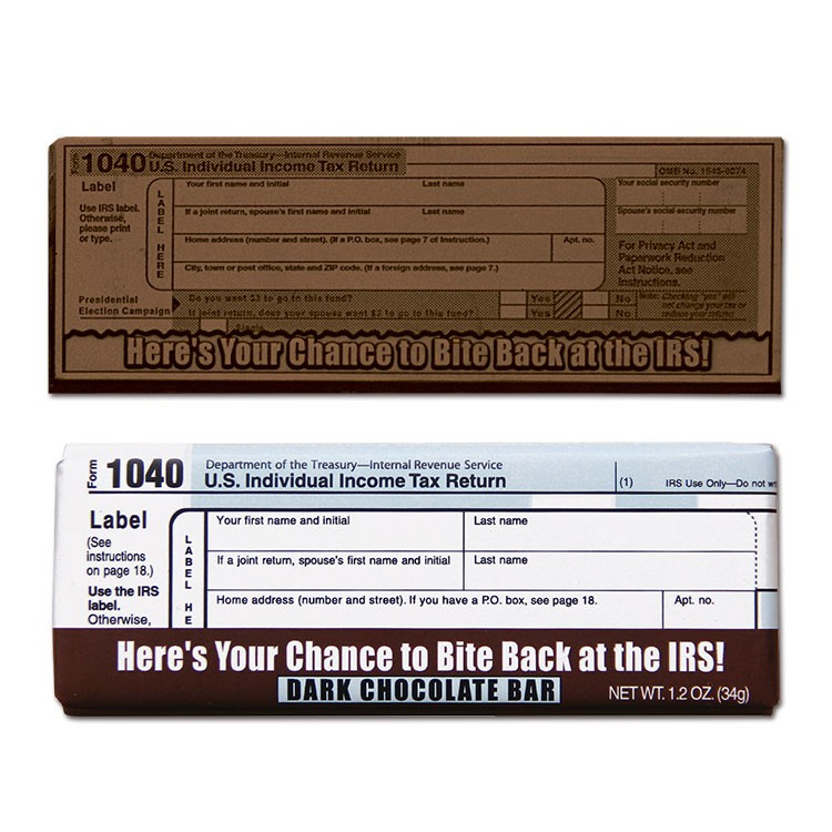 Bite Back at the IRS 2x 5 Dark Chocolate Bar - Express Collection