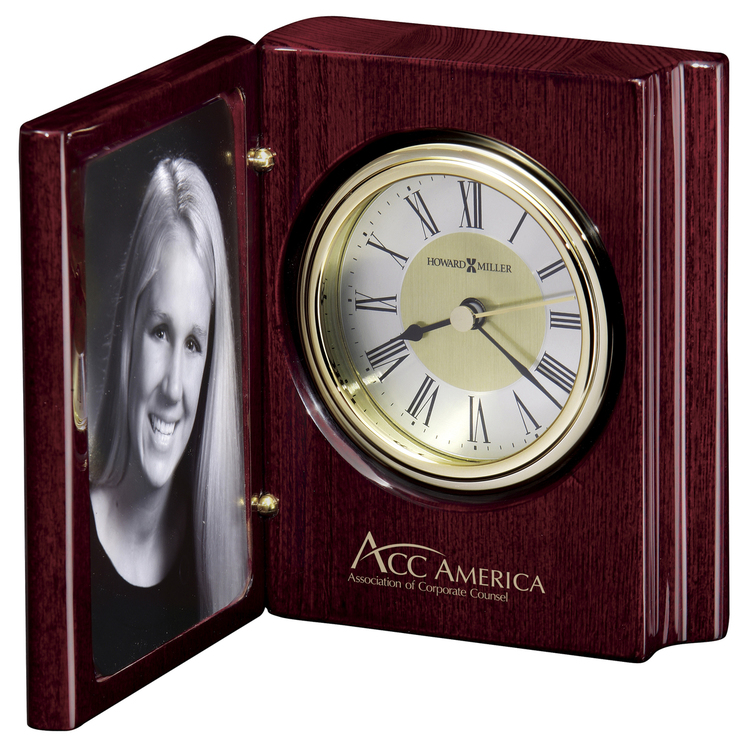 Howard Miller Portrait Book clock and picture frame