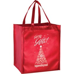Nonwoven Metallic Polypropylene Grocery Totes - LM131015 - Silk Screened (Laminated Inks Only)