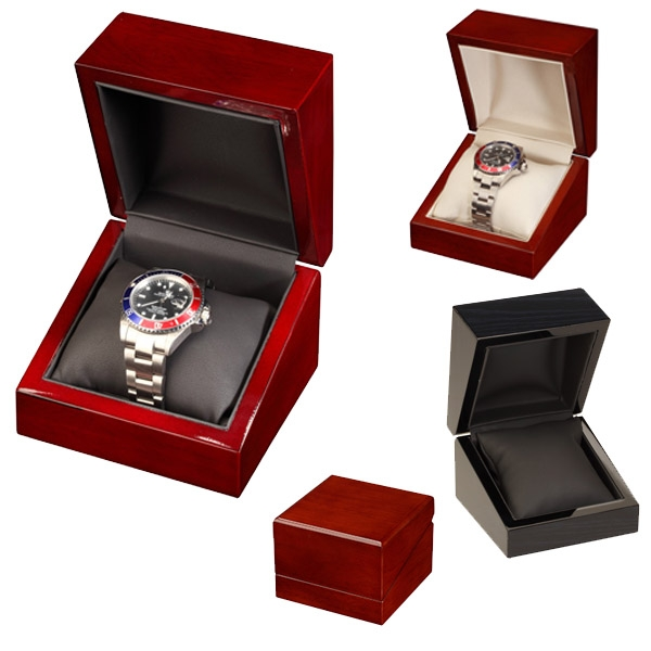 Wood Grain Finish Single Watch Box