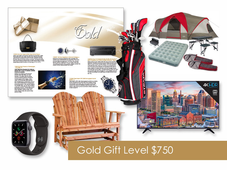 $750 Gift of Choice (Gold Level) Gift Card