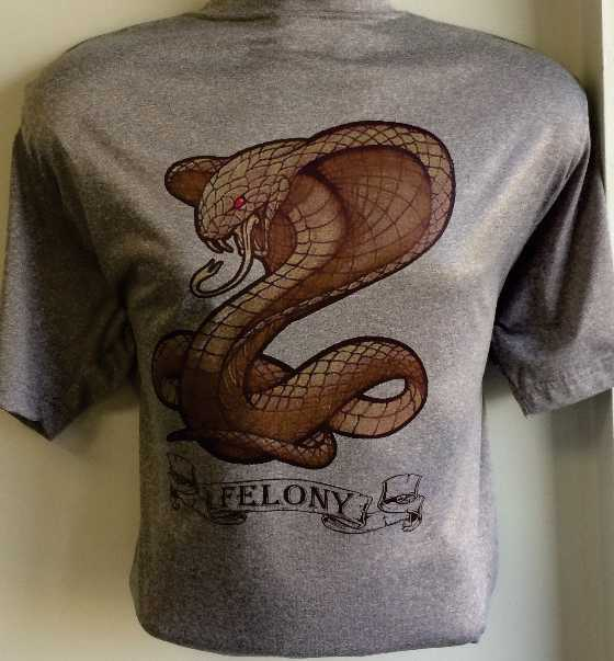 Full Color Cobra Print on Dri-fit T-shirts