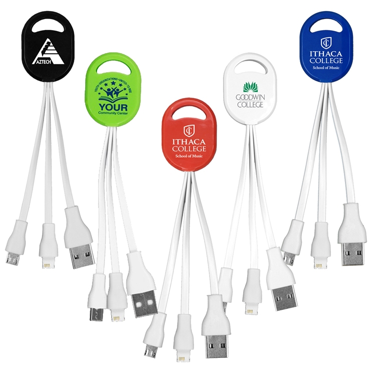 Ogden 2-in-1 Charging Cable For Cell Phones and Tablets - Spot Color