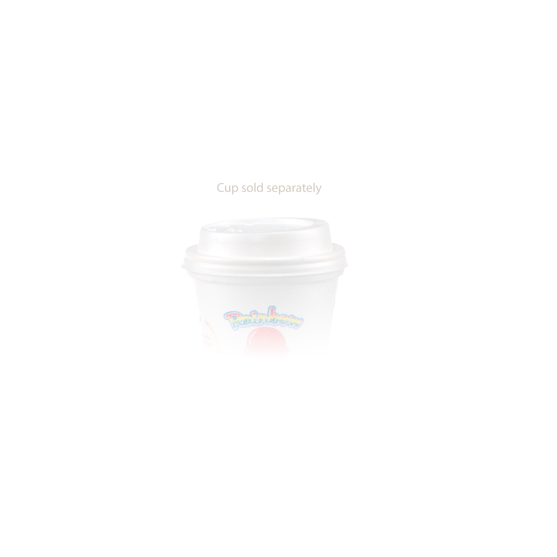 8 oz Foam Cup Domed Lid - White