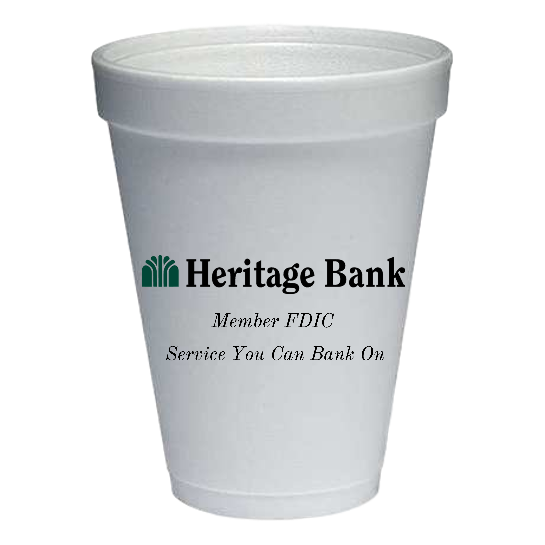 12 oz. Styrofoam Hot/Cold Cup