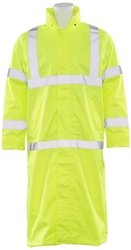 S163 Aware Wear ANSI Class 3 Hi-Viz Lime Long Rain Coat (X-Large)