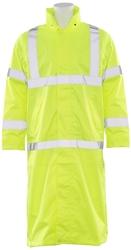 S163 Aware Wear ANSI Class 3 Hi-Viz Lime Long Rain Coat (X-Large)