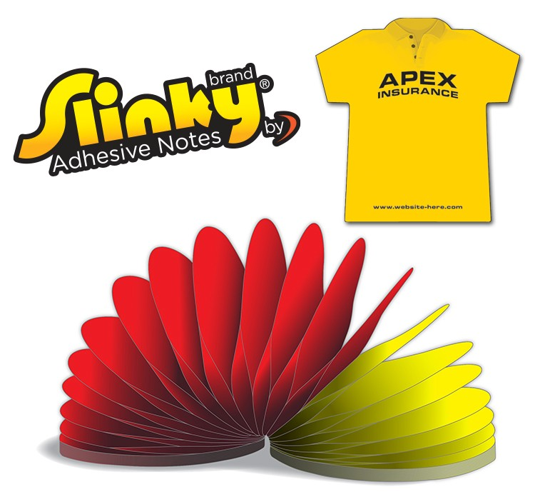 Slinky(R) Adhesive Notes - T-Shirt - 100 Sheets
