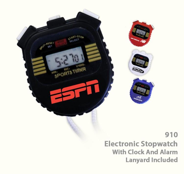 Digital Stop Watch w&x2f; Chronometer, Alarm and Clock- Black