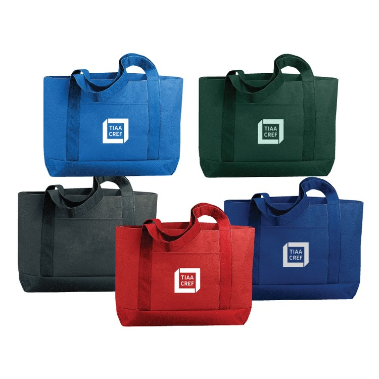 600D Polyester Solid Color Tote Bag
