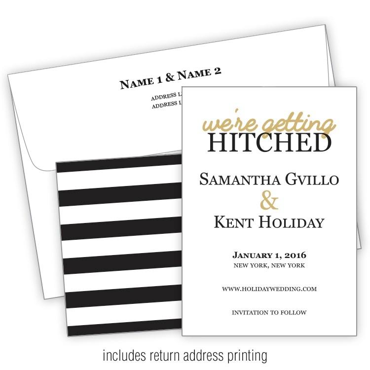 wedding invitation with printed envelopes flat