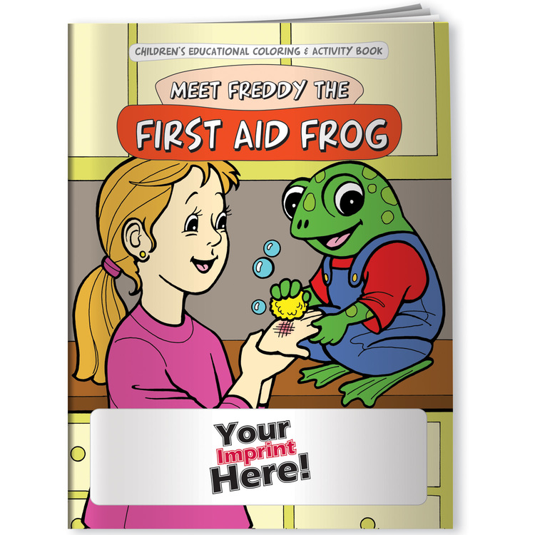 Children's Coloring Book - Meet Freddy the First Aid Frog