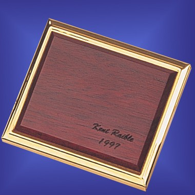 G/P BRASS-ROSEWOOD 2 SIDES COMPACT MIRROR
