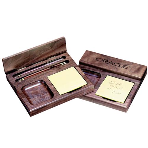 Wood Pen & Pencil Memo Set