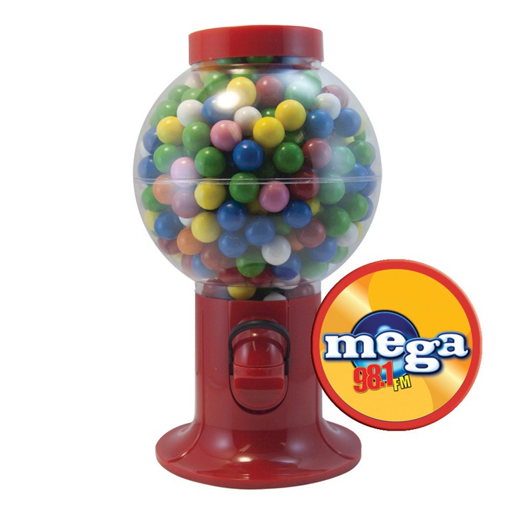 Red Gumball Machine with Gum