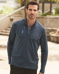 Golf Mixed Media Quarter-Zip Jacket