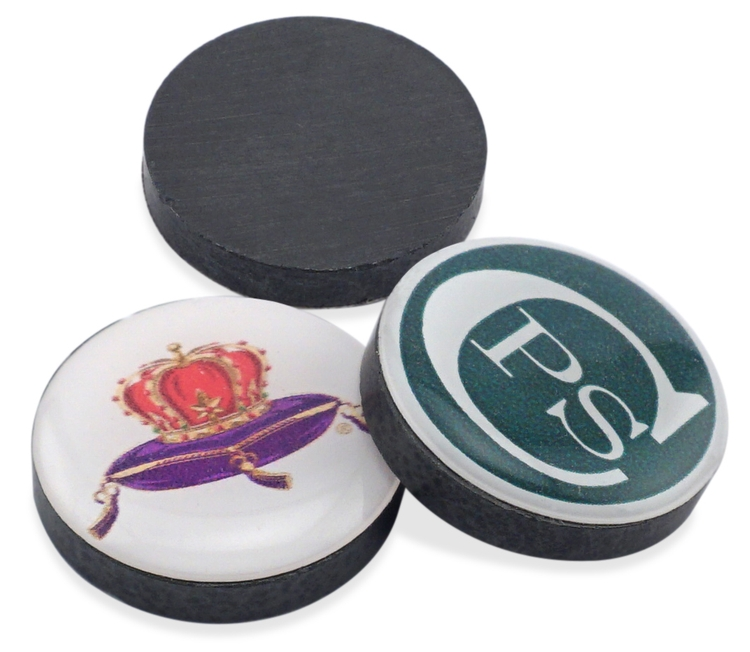 Domed Ceramic Disc Magnets (0.97 Diameter)