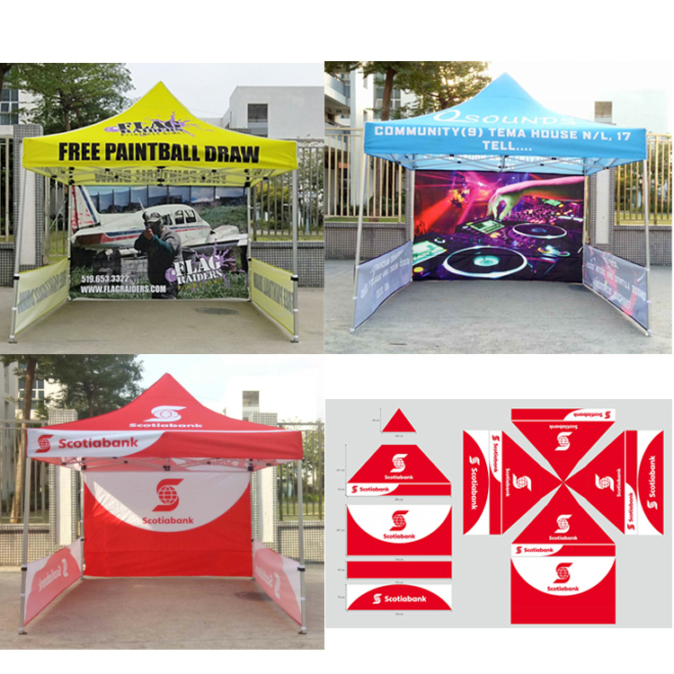 10 X 10 Pop Up Tent Top With Back Wall Hps395 Empire Specialty Printing