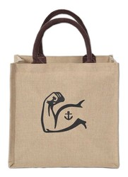 Costa Juco Jute/Cotton Tote Bag 12x7x11.5