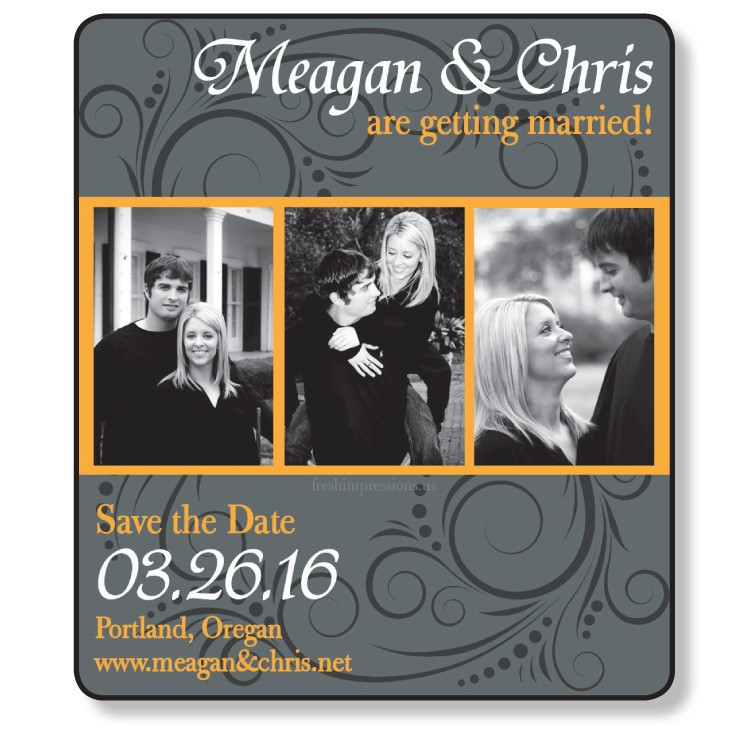 3.5x4 Wedding Magnet with FREE Printed Envelopes