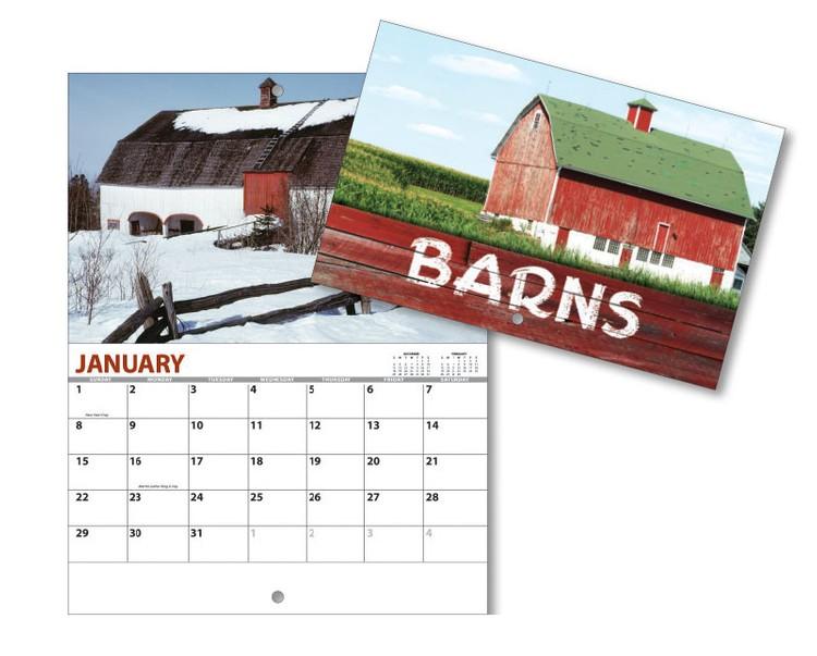 13 Month Mini Custom Photo Appointment Wall Calendar - BARNS