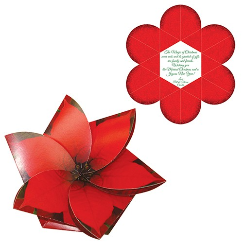 Poinsettia Gift Card Holder / Greeting Card