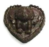 CHOCOLATE HEART MEDIUM WITH KISSING CUPID