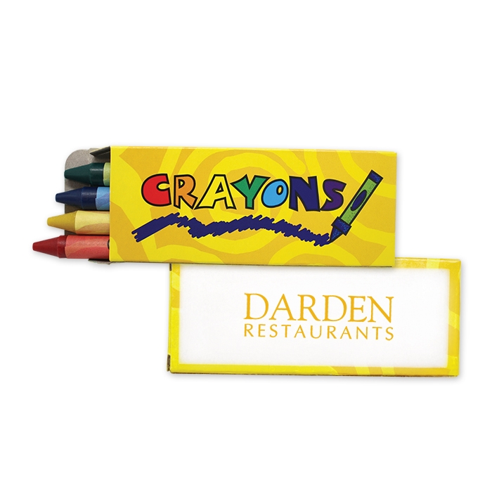 4 Pack Crayons - Yellow