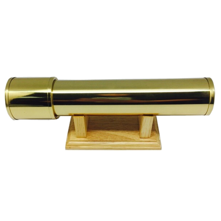 GOLD KALEIDOSCOPE WITH WOOD STAND