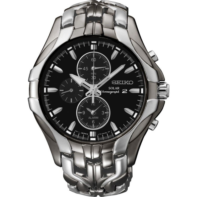 580ca5e45f7 Seiko Men s Chronograph Solar Excelsior Two-Tone Stainless Steel Bracelet  Watch  SSC139