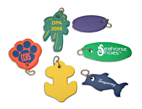 E-Floats! Floating Foam Key Tags - Economy Foam Floating Key Tags