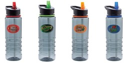 24 oz. Ribbed Tritan Water Bottle with Straw and Full Color Imprint