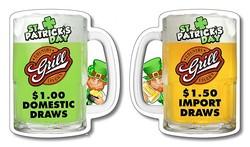 Drink Coaster - 3.75x4.375 Beer Mug Shape - 18 pt. Paperboard