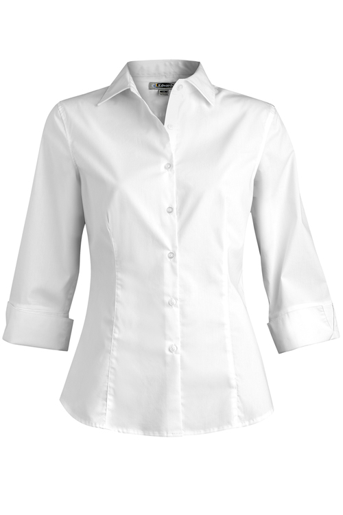 EDWARDS LADIES\' TAILORED STRETCH BLOUSE-3/4 SLEEVE