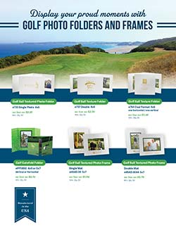 Golf photo folders and frames flyer from Warwick