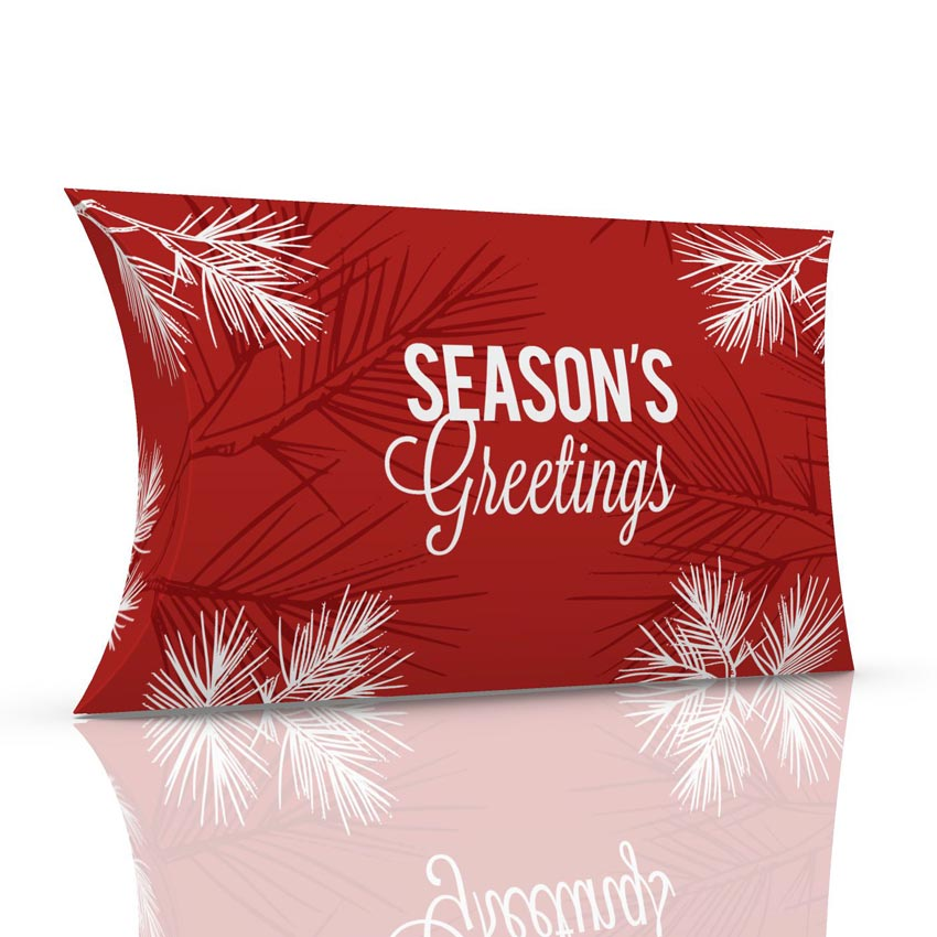 Pine bough greetings pillow box