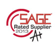 Sage - A+ Rated Supplier 2013