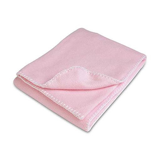 Pink Polar Fleece Crib Blanket