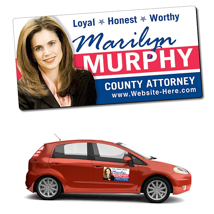 Political Magnetic Car/Truck/Auto/Vehicle Signs - 24x12 Round Corners