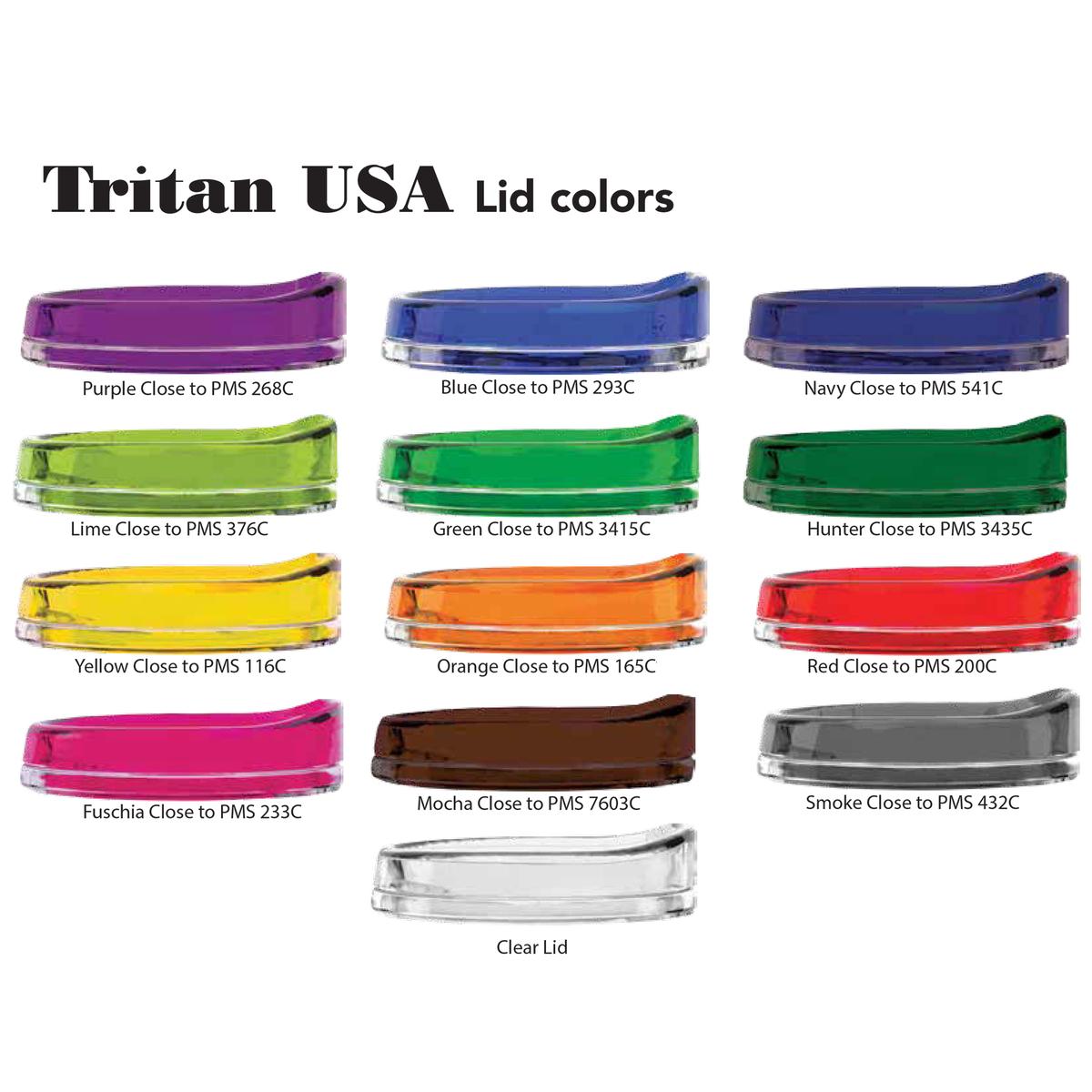Colored Turn Tab Lid for 22 oz. Tritan Tumblers