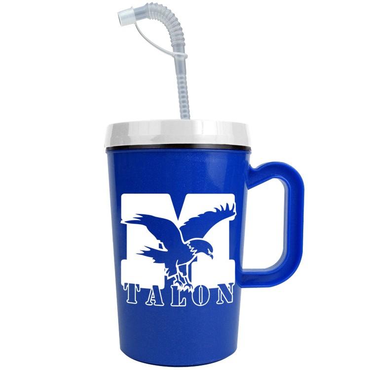 22 oz Insulated Mug with Straw