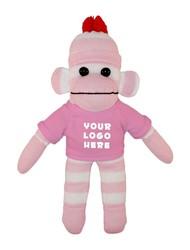 Pink Sock Monkey (Plush) with tee Stuffed Animal