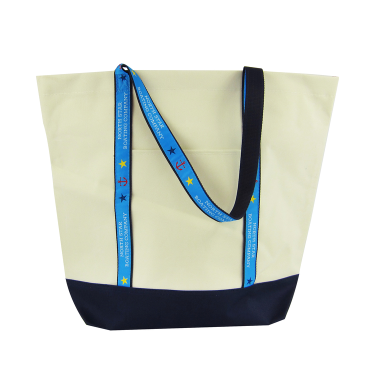 Marina Tote Bag with Custom Woven Strap