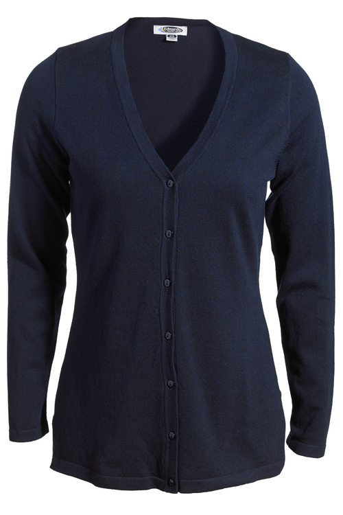 LADIES' CORPORATE PERFORMANCE V-NECK LONG CARDIGAN SWEATER