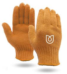 Orange Knit Gloves