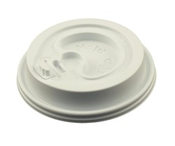 12 oz. - 20 oz. Hot/Cold White Insulated Paper Cup Lid