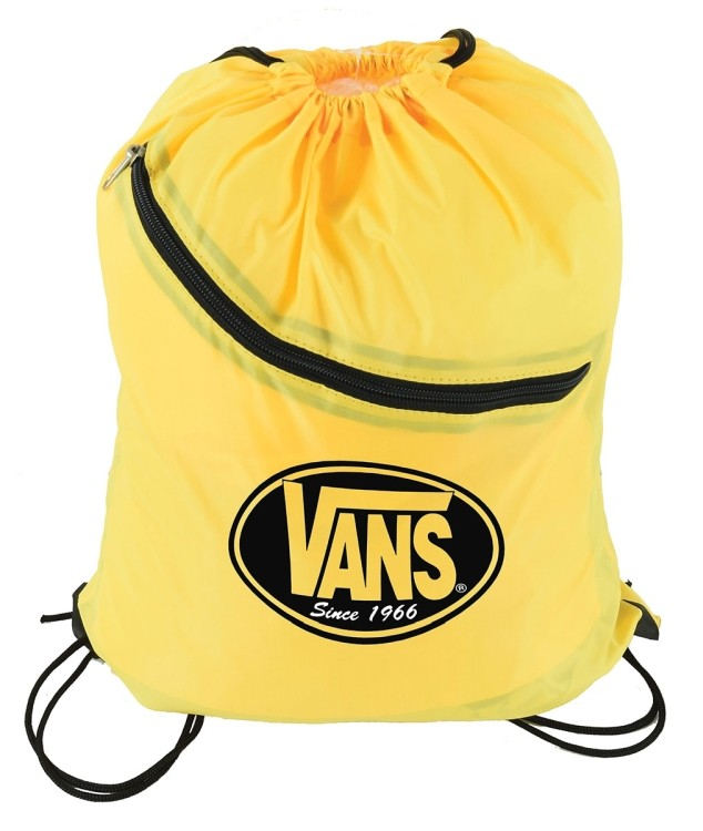 Drawstring Bag w/ Zippered in front built -slot for ear buds