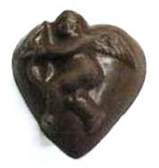 CHOCOLATE HEART LARGE WITH CUPID
