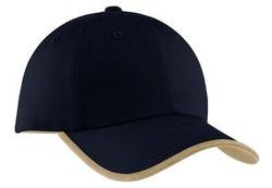 Port & Company - Twill Cap with Contrast Visor Trim and Underbill.